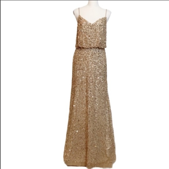 Adrianna Papell Dresses & Skirts - Adrianna Papell Gold Sequin Dress